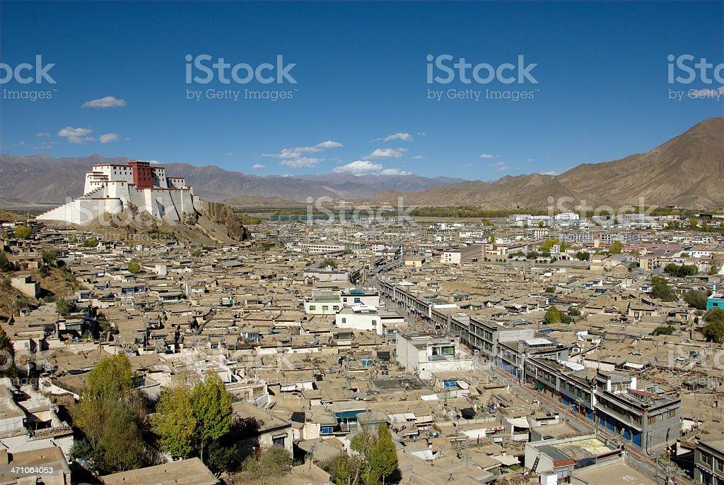 Shigatse Fortess (Tibet 2007) royalty-free stock photo