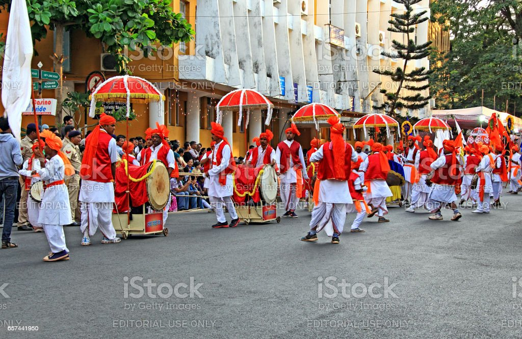 Shigmo Festival of Goa, Drum Troupe stock photo
