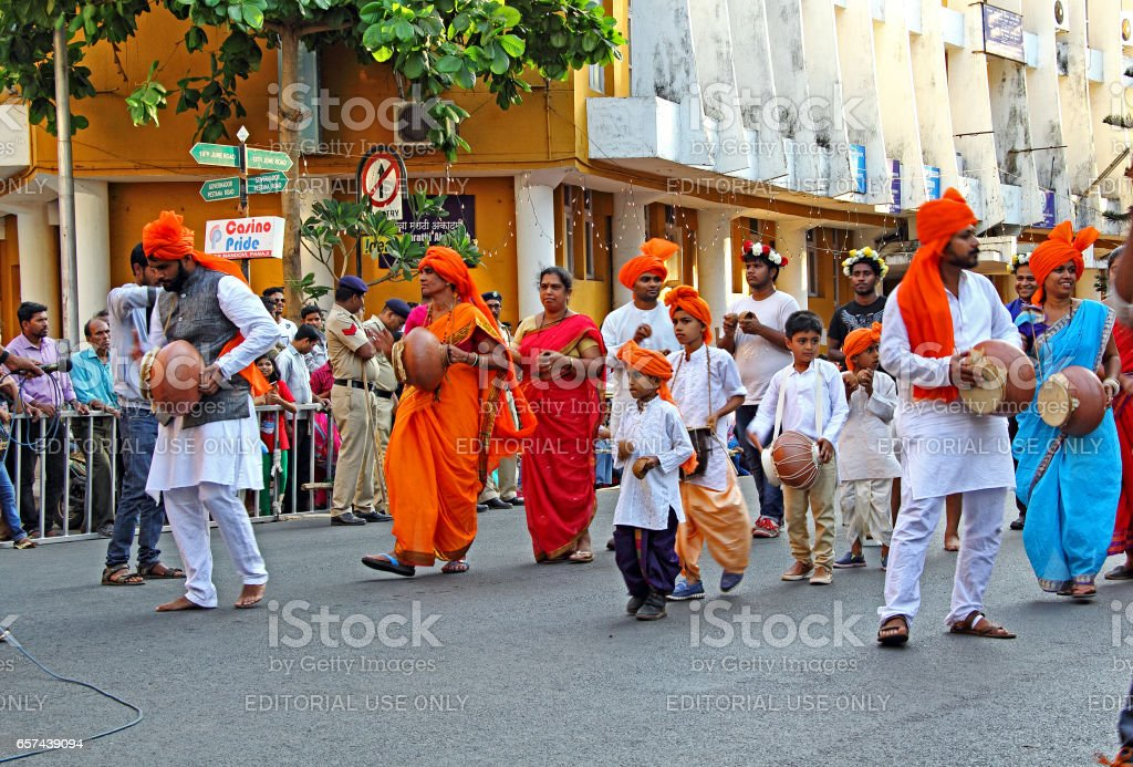 Shigmo Festival of Goa, Ghumat troupe stock photo