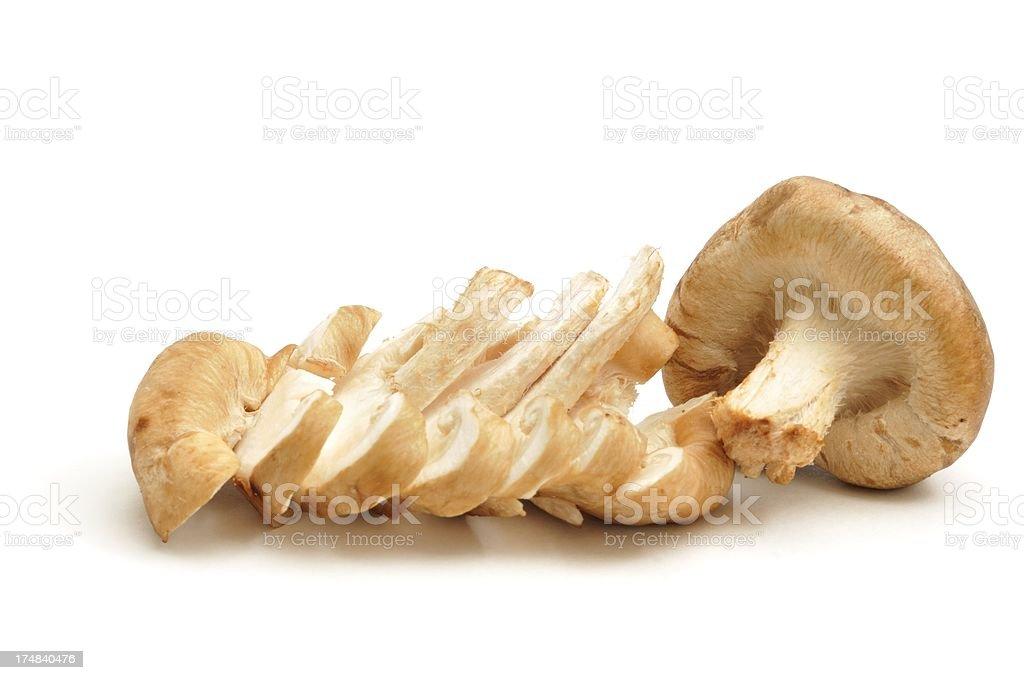 Shiitake mushroom sliced royalty-free stock photo