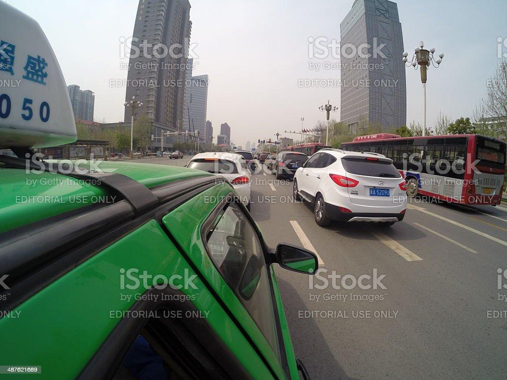 Shijiazhuang City Traffic stock photo