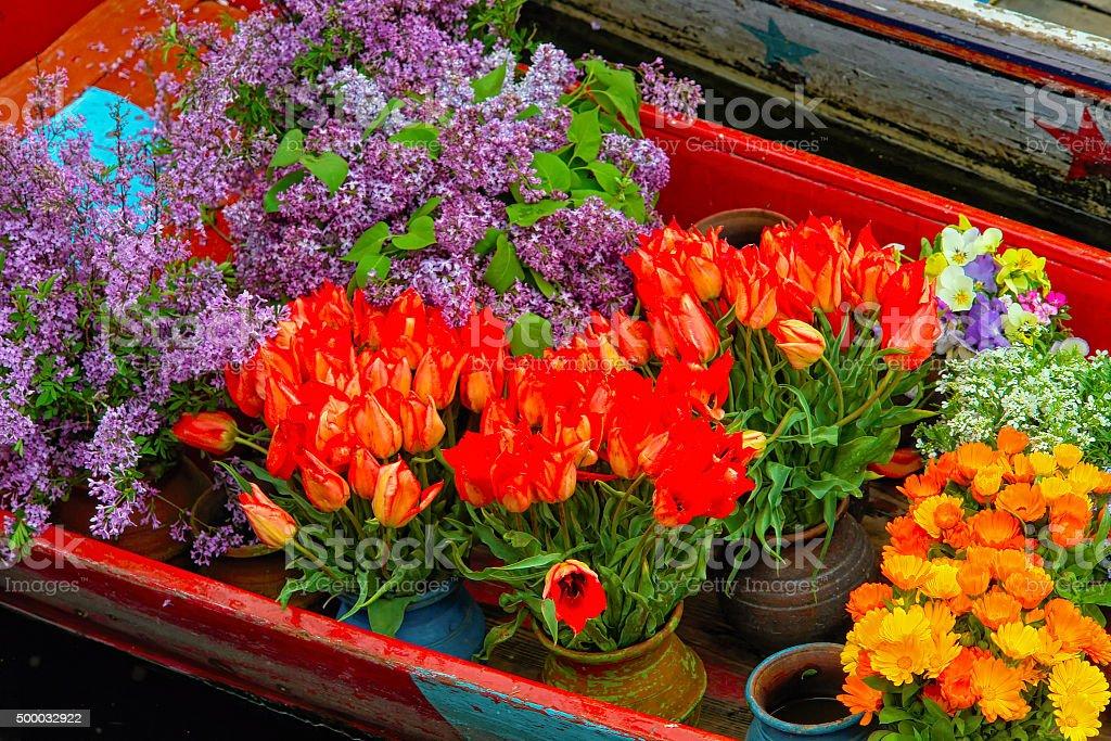 Shikara florist stock photo