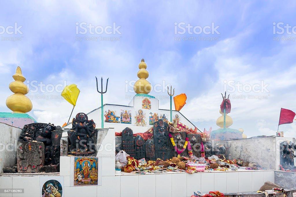 Shikari Mata / Devi Roofless Temple (The Hunter Goddess), Himalaya stock photo