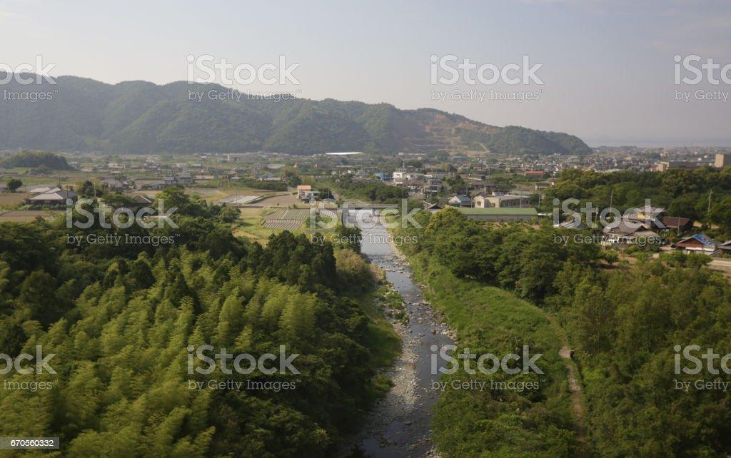 Shikokuchuo, Ehime Prefecture, Shikoku, Japan in Springtime stock photo