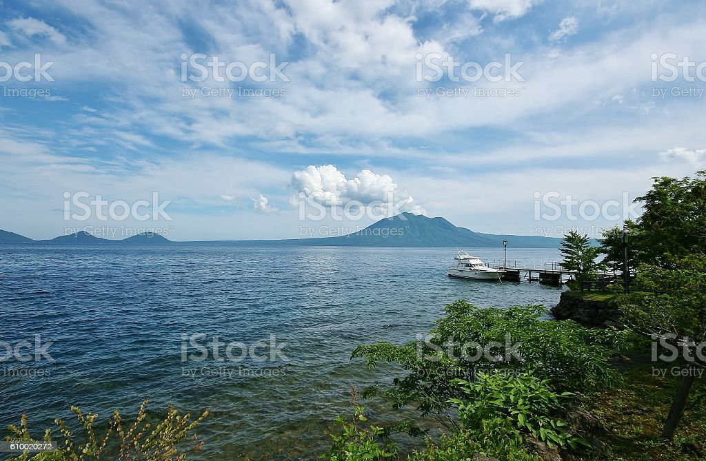 Shikotsu Lake stock photo