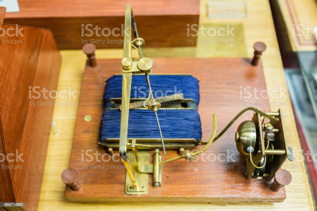 Shilling's electromagnetic telegraph stock photo