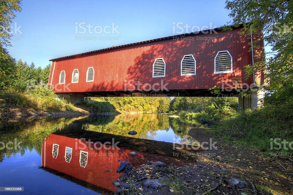 Shimanek Covered Bridge Oregon stock photo
