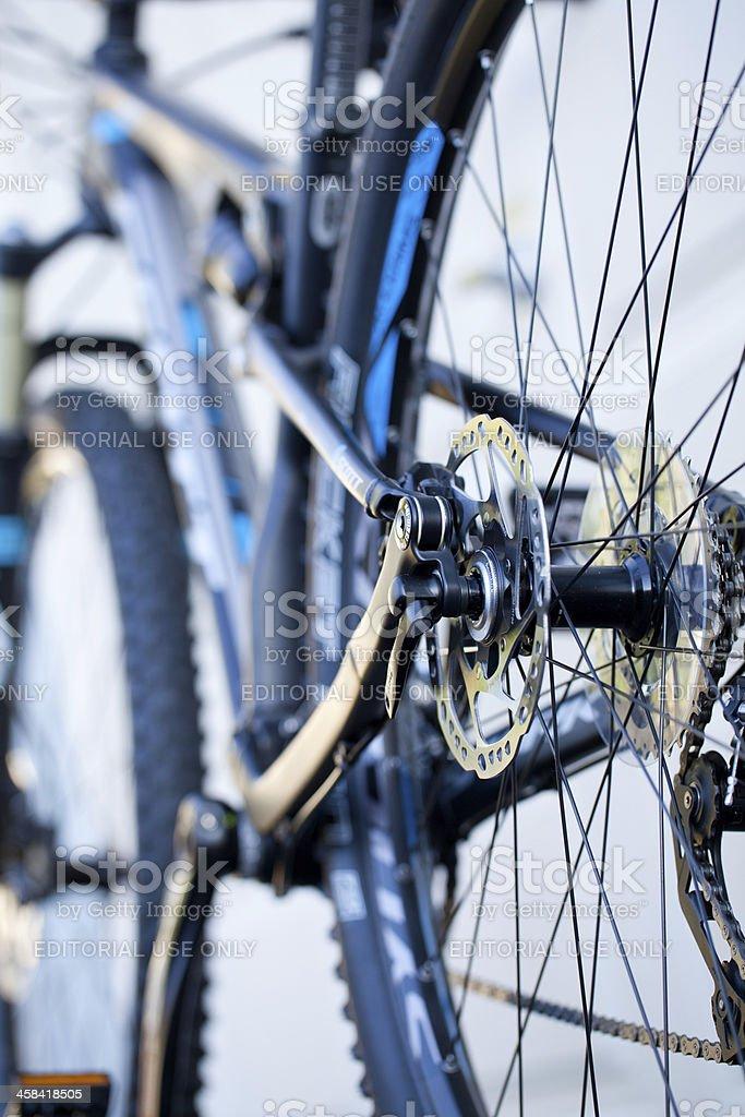 Shimano mountain bike rear hydraulic brakes stock photo