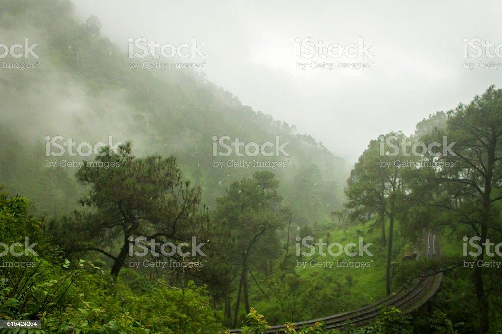 Shimla during monsoons. stock photo