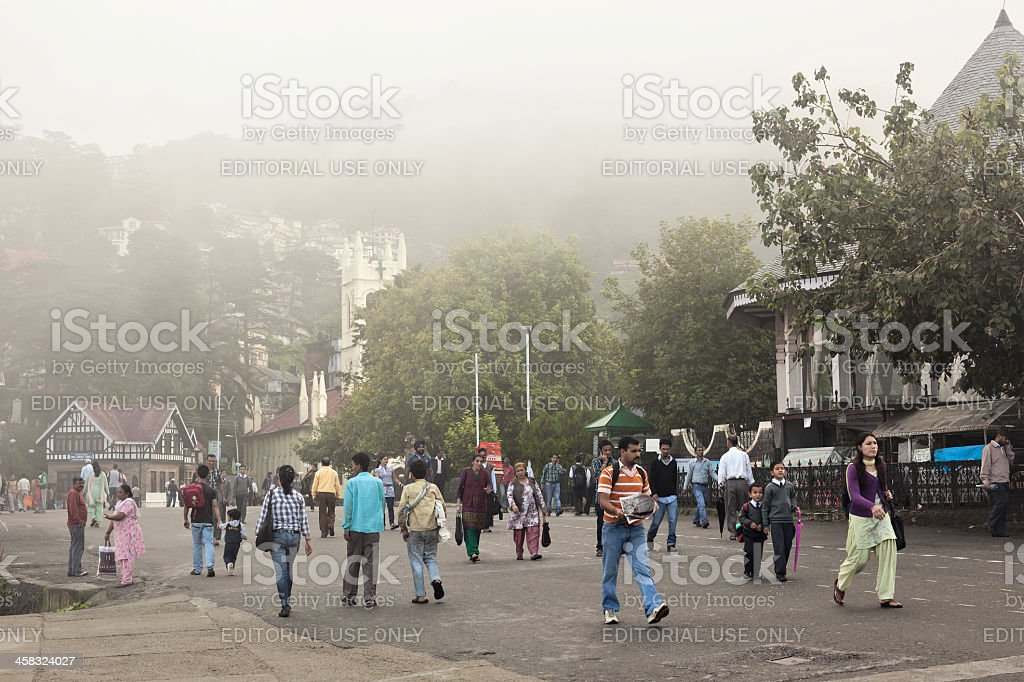 Shimla, the Ridge royalty-free stock photo