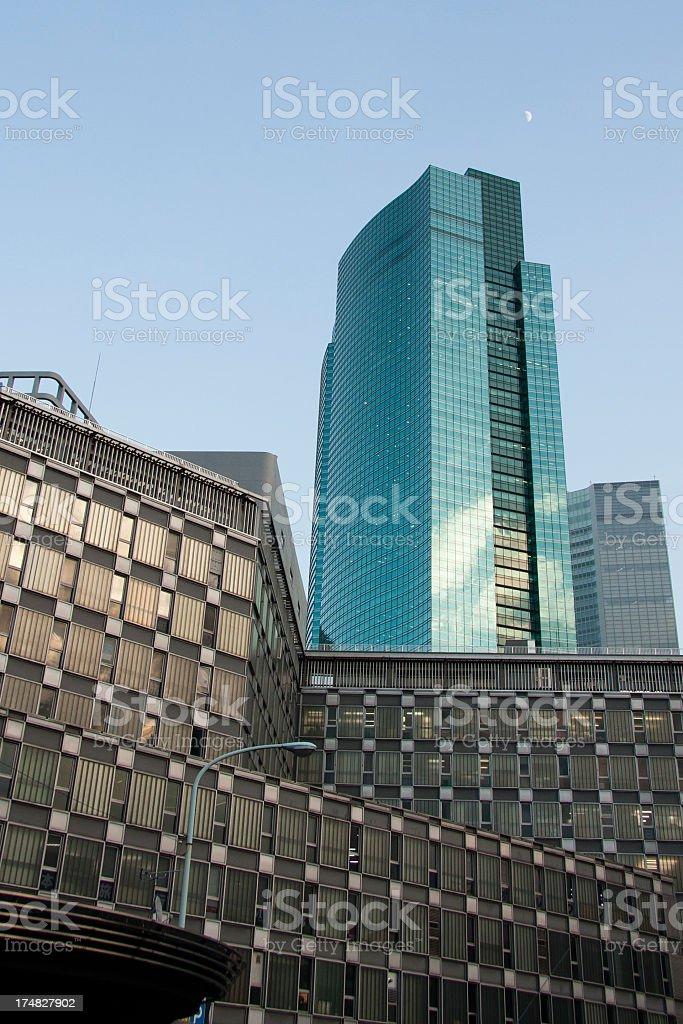 Shinbashi Skyscrapers royalty-free stock photo