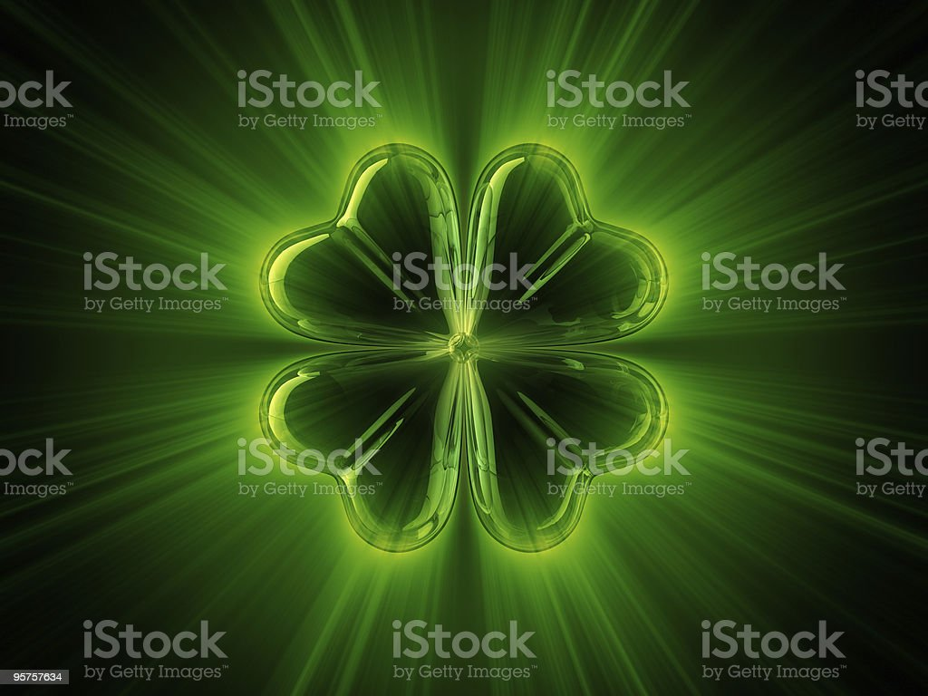 Shine of clover stock photo