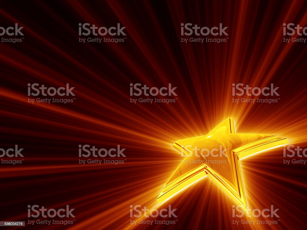 Shine Of Gold Star stock photo