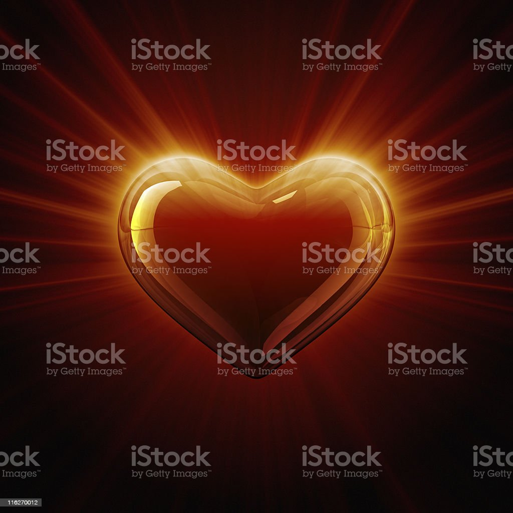 Shine of heart royalty-free stock photo