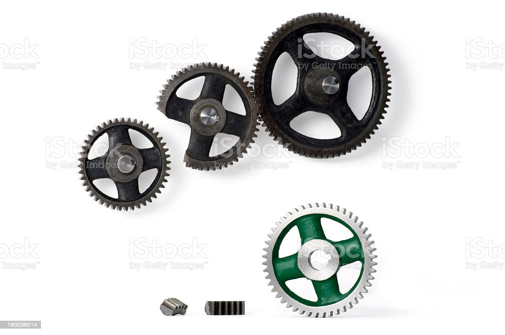 Shiney new replacement gear royalty-free stock photo