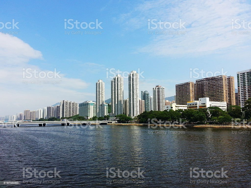 Shing Mun river in Kowloon - Hong Kong stock photo