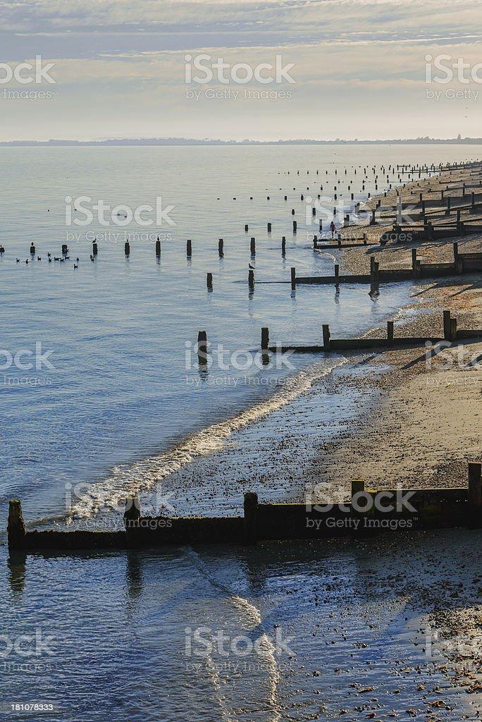 shingle beach stock photo