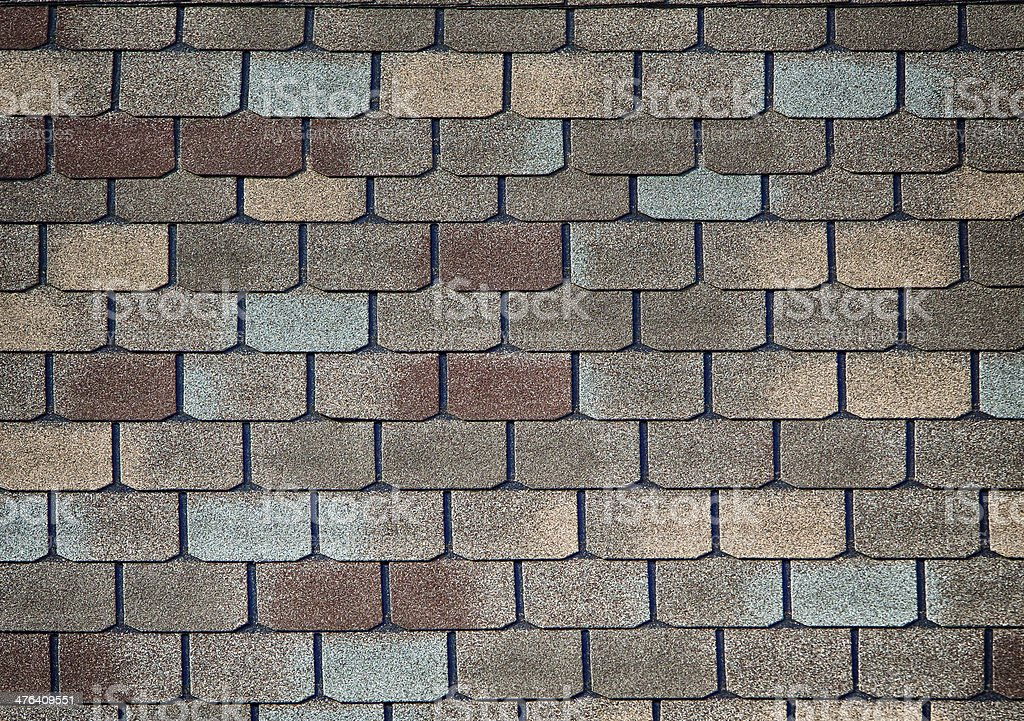 Shingle roofing stock photo