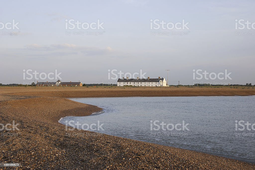 Shingle Street at first light stock photo