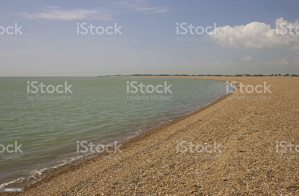 Shingle Street, Suffolk stock photo