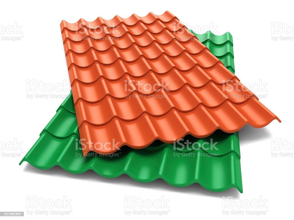 Shingles roof sheets stock photo