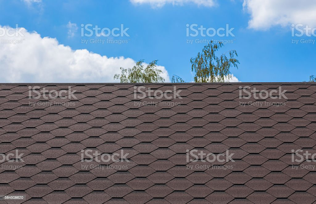 Shingles roof tile texture stock photo