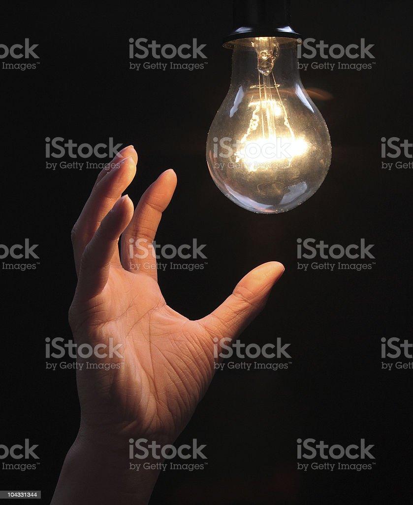 shining bulb stock photo
