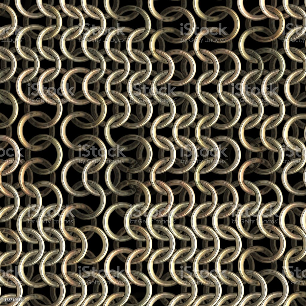 Shining chainmail royalty-free stock photo