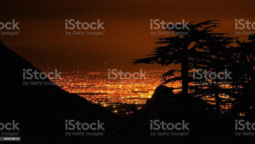 shining city stock photo