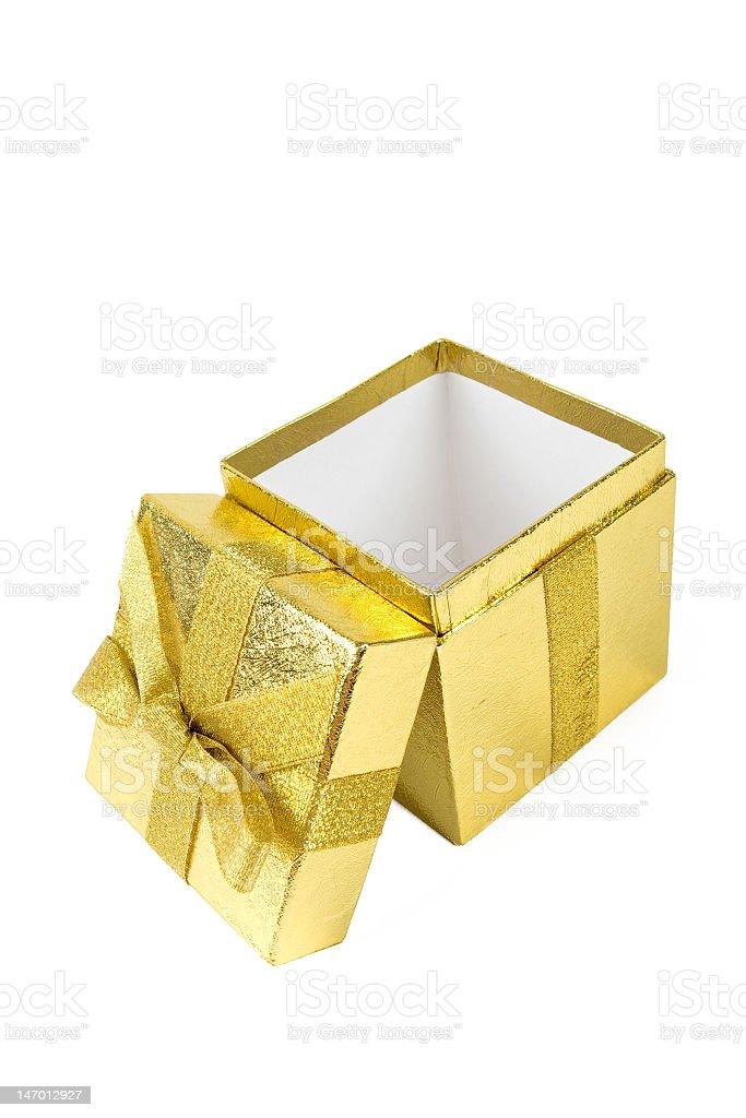 Shining gift box royalty-free stock photo