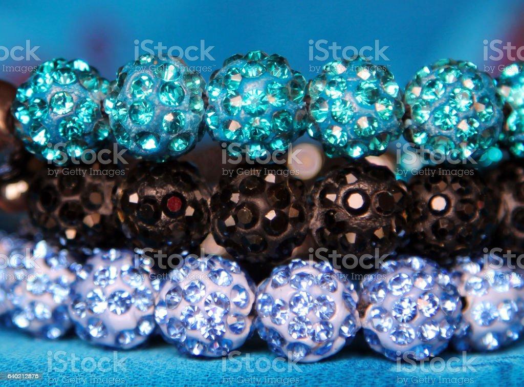 shining jewels background stock photo