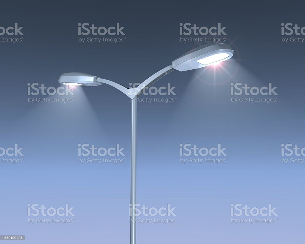 Shining Lamps post stock photo