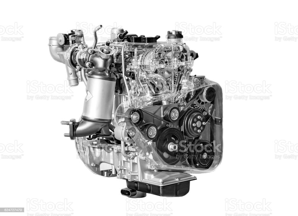 Shining motor engine stock photo