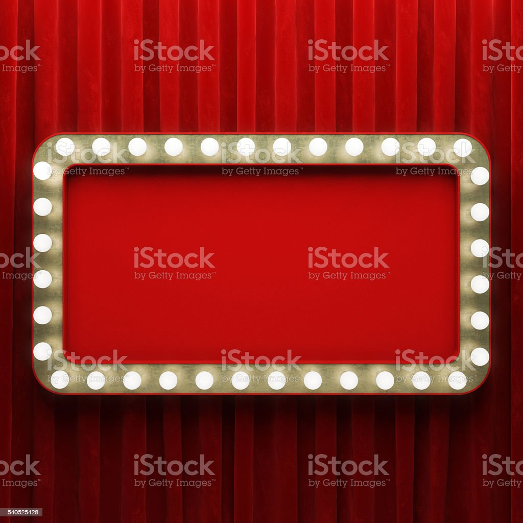 Shining retro banner stock photo