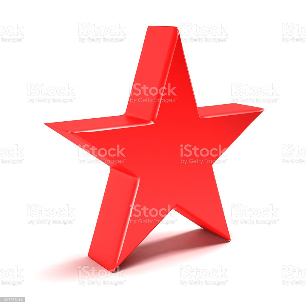 Shining Star. 3D Rendering Illustration stock photo