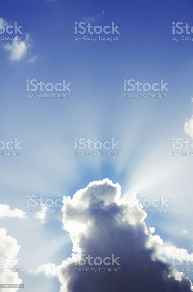 Shining Sunburst royalty-free stock photo