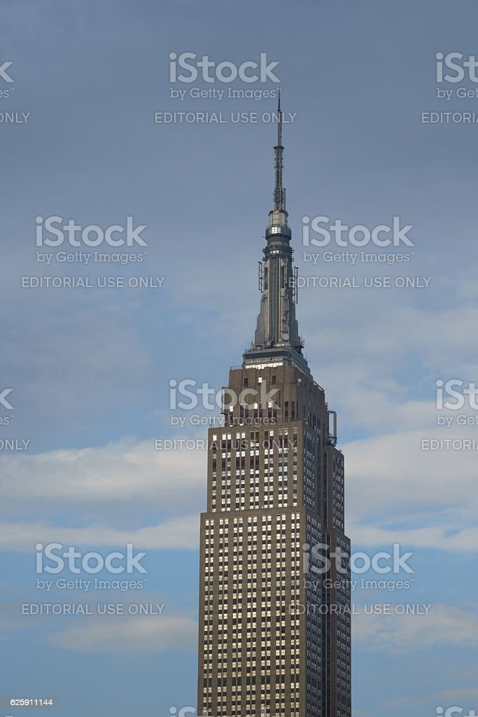 Shining windows of Empire State Building stock photo