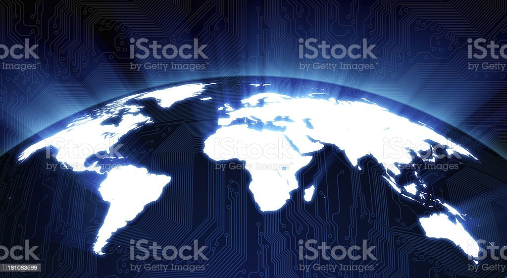 Shining world map royalty-free stock photo