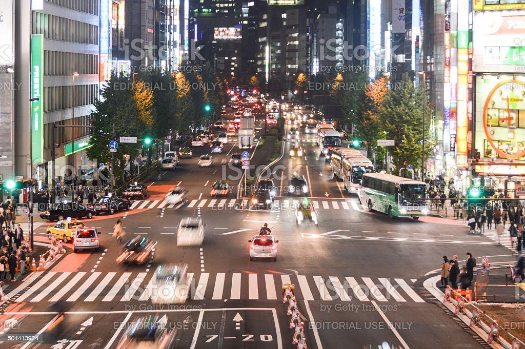 Shinjuku at night. Shinjuku is one of Tokyo\'s business districts with...