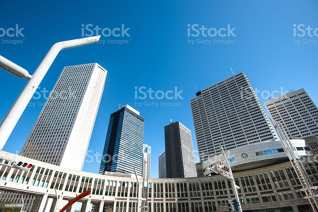 Shinjuku business area in Tokyo - Japan stock photo