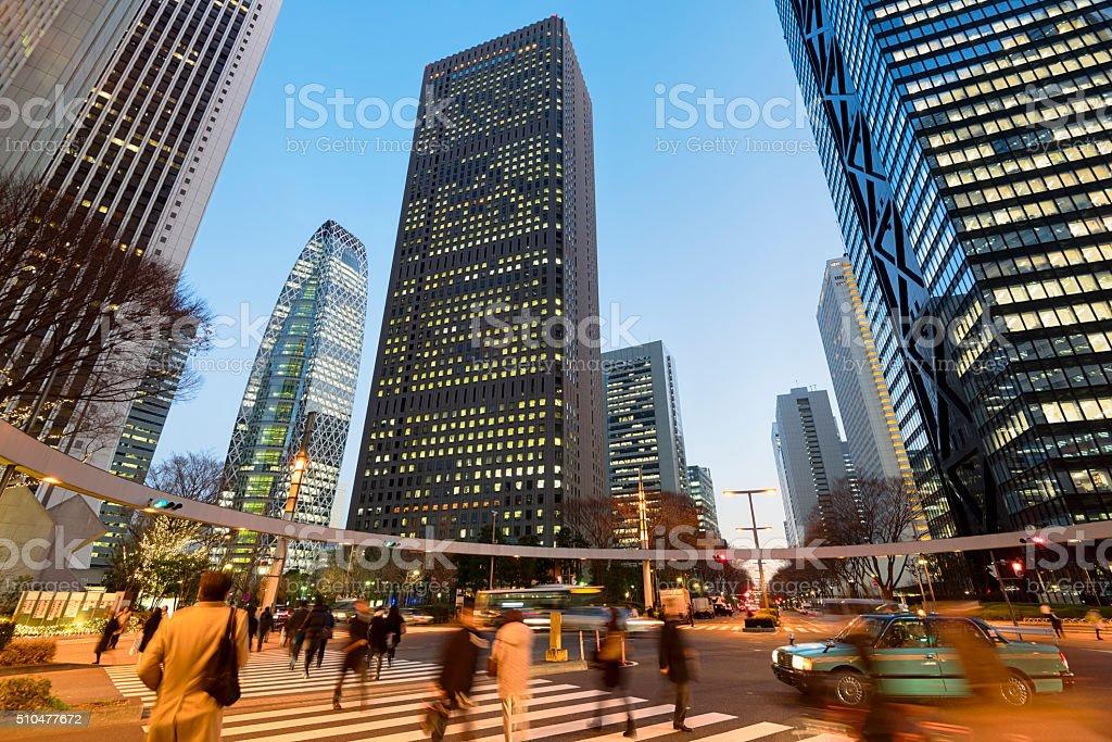 Shinjuku Business District, Tokyo - Japan stock photo