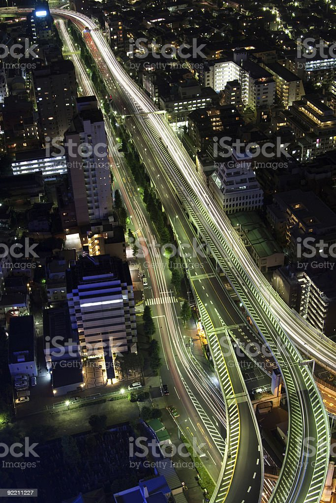 Shinjuku Highway Bridge - Tokyo, Japan royalty-free stock photo