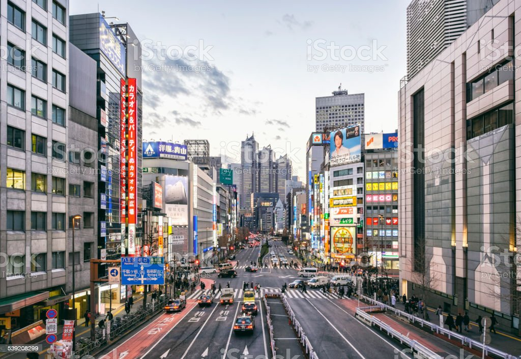 Shinjuku Japan in the Evening stock photo