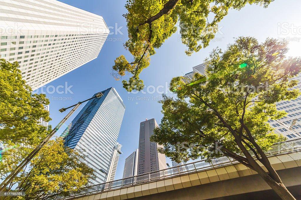Shinjuku landscape stock photo