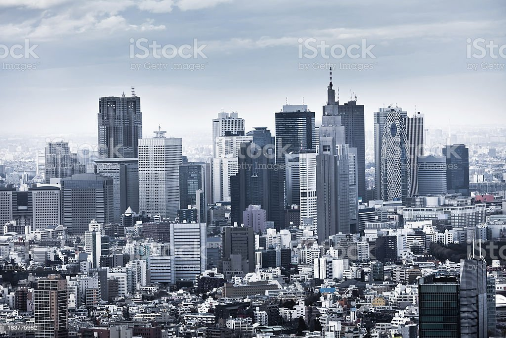 Shinjuku Skyline in Tokyo, Japan stock photo