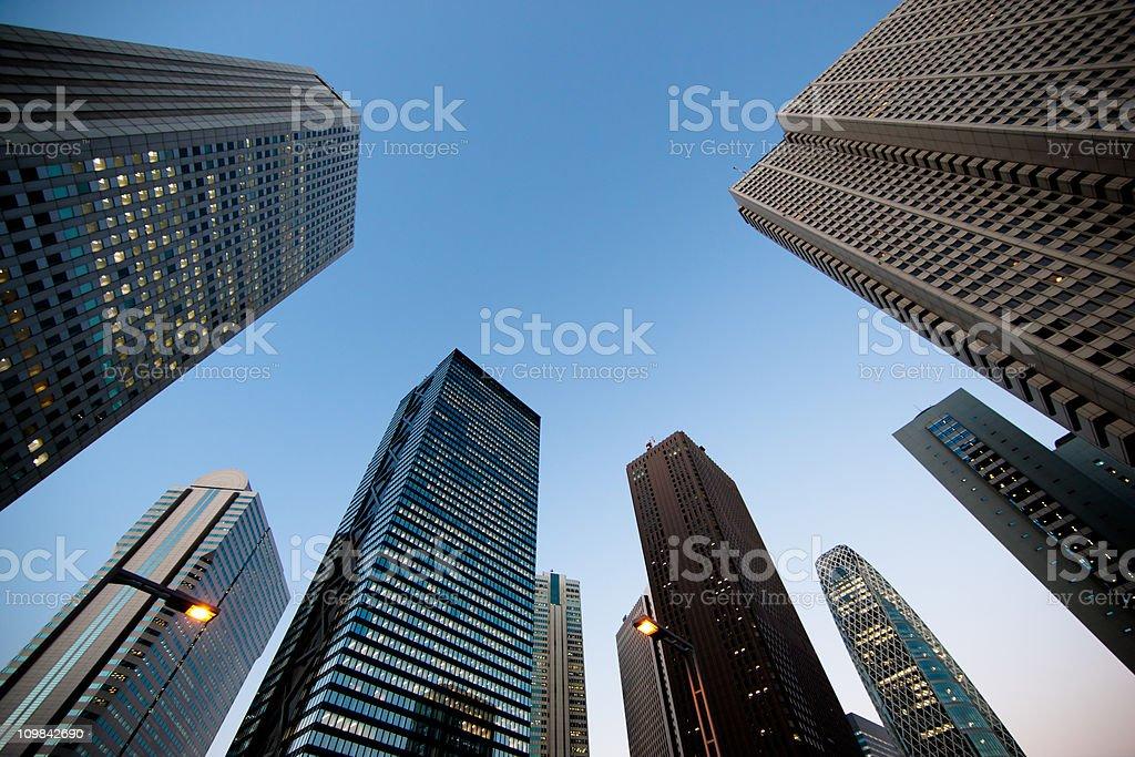 Shinjuku Skyscrapers at Night Tokyo, Japan royalty-free stock photo