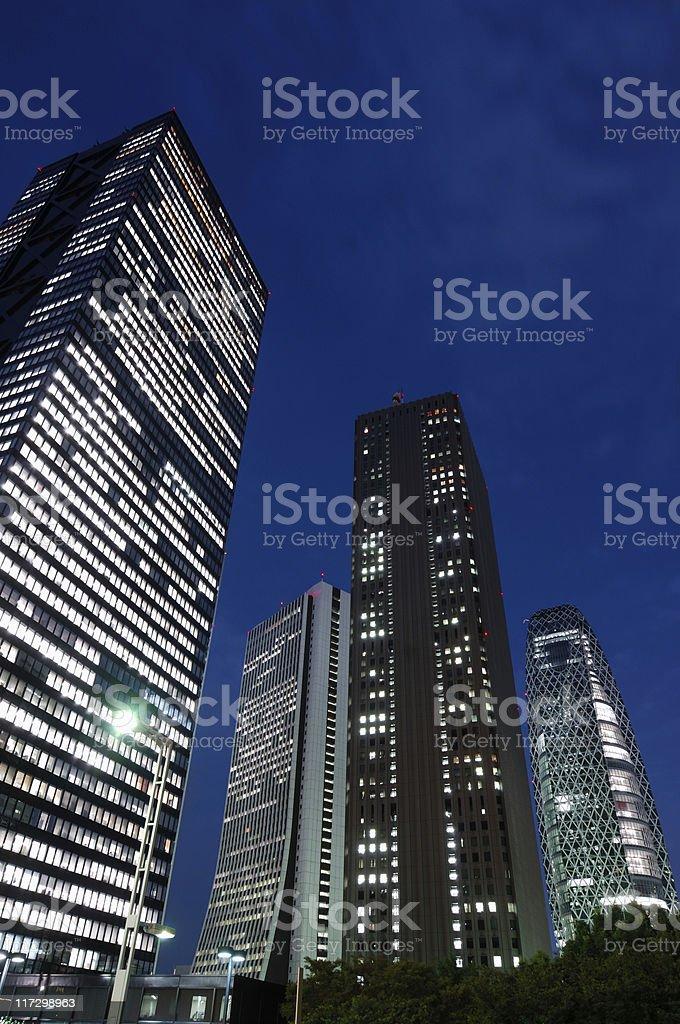 Shinjuku Skyscrapers royalty-free stock photo