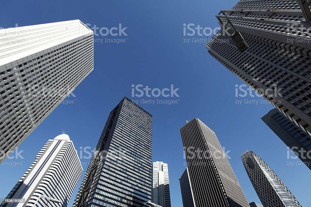 Shinjuku skyscrapers stock photo