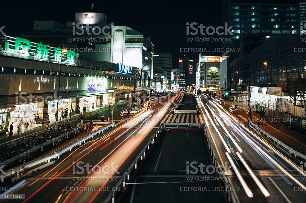 Shinjuku station stock photo