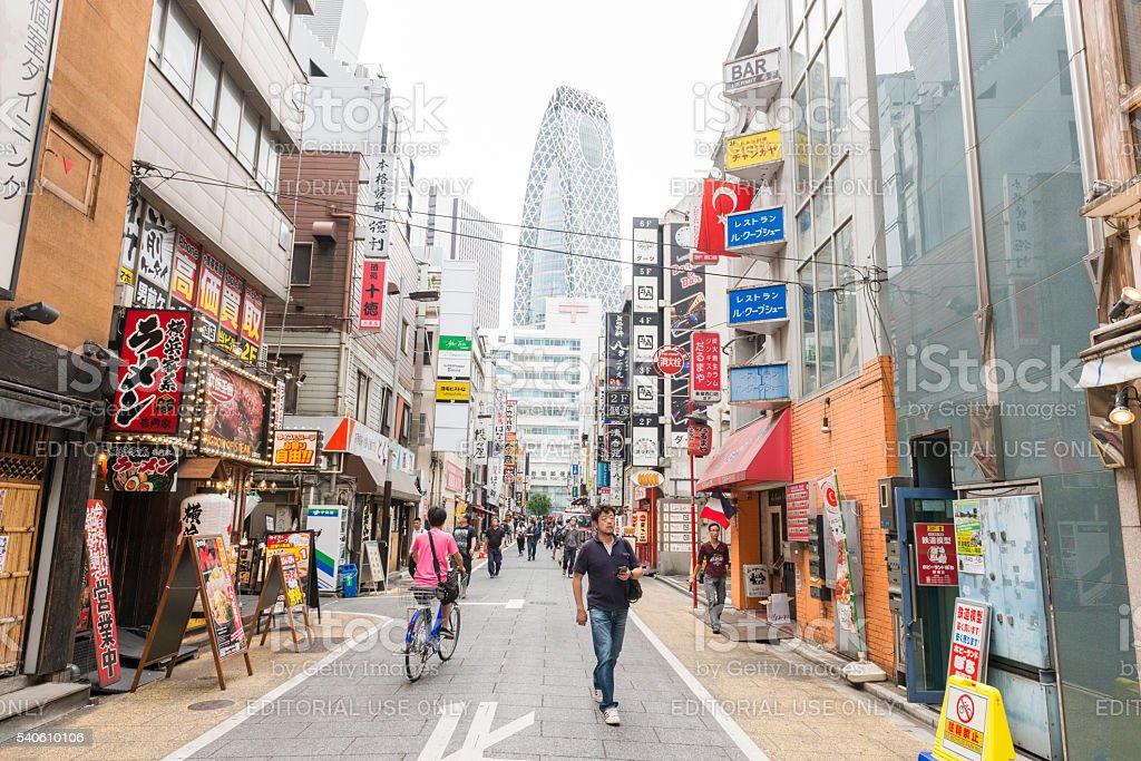 Shinjuku Tokyo Japan Street Full of Businesses and People stock photo